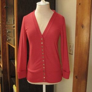 Zenana Outfitters Red Cardigan Sweater NEW Small